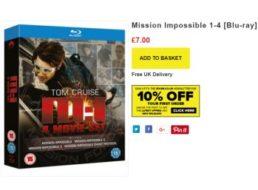 Mission Impossible: Filme 1-4 auf Blu-ray für 7 Euro frei Haus