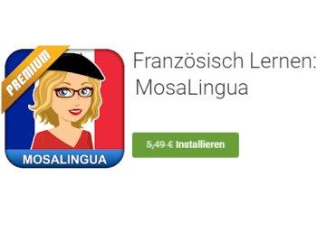 """Gratis: App """"MosaLingua Premium Französisch"""" zum Nulltarif"""