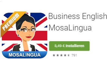 "Gratis: App ""Mosalingua Business English Premium"" für 0 Euro"