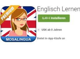 Gratis-App: Mosalingua Englisch Premium für 0 statt 5,49 Euro
