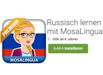 """Gratis: App """"Russisch lernen mit MosaLingua"""" für 0 statt 5,49 Euro"""