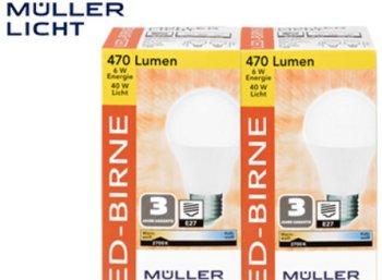 Aldi-Süd: LED-Leuchtmittel von Müller Licht zu Schnäppchenpreisen