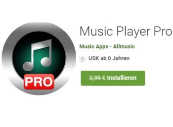 """Gratis: """"Music Player Pro"""" bei Google für kurze Zeit zum Nulltarif"""
