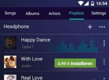 """Gratis: """"Music Player Pro"""" bei Google Play für kurze Zeit gratis zu haben"""