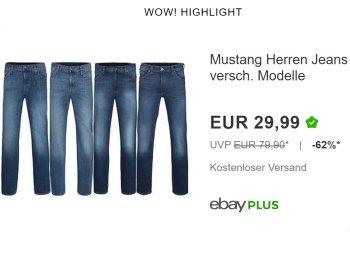 Mustang: Jeans für 29,99 Euro frei Haus in 10 Farben