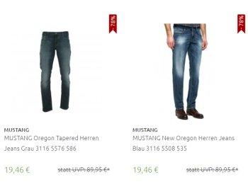 Mustang: Herren-Jeans in über 100 Modellen für 19,46 Euro frei Haus
