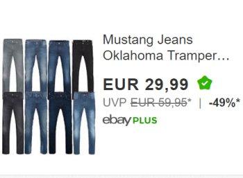 "Mustang: Jeans ""Oklahoma Tramper"" für 29,99 Euro frei Haus via Ebay"