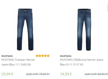 Outlet46: Mustang-Jeans ab 29,99 Euro frei Haus