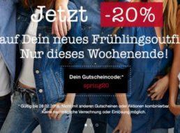 Mustang: 20 Prozent Rabatt auf bereits reduzierte Ware – Jeans ab 23,96 Euro