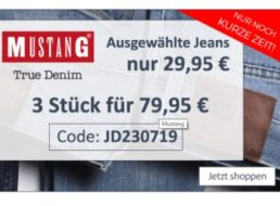 """Mustang: Jeans für 29,95 Euro frei Haus bei """"Jeans Direct"""""""