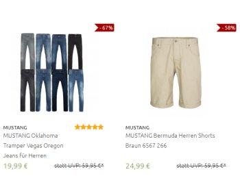 Mustang: Jeans und Hemden mit Rabatt und Gratis-Versand