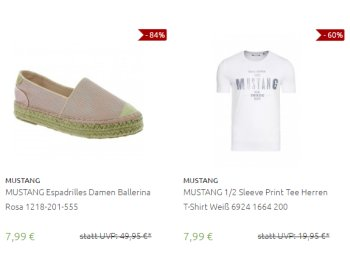 Outlet46: Mustang-Sale mit Schuhen, Jeans und Shirts ab 7,99 Euro