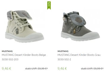 Outlet46: Mustang-Schuhe ab 9,46 Euro frei Haus