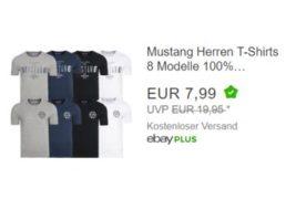 Mustang: T-Shirts für 7,99 Euro frei Haus via Ebay