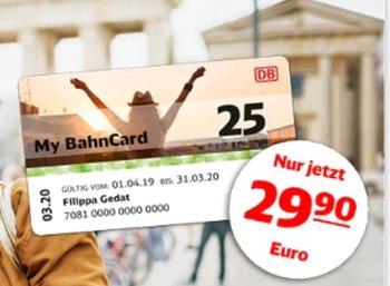 MyBahnCard: Preis um 10 auf 29,90 Euro gesenkt