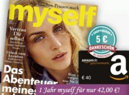 Myself: Jahresabo für 42 Euro mit Gutscheinen über 45 Euro