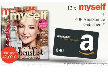 Myself: Jahresabo mit zwölf Heften für effektiv zwei Euro