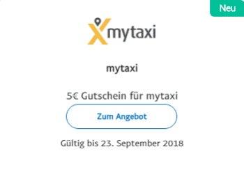 Paypal: 5 Euro Rabatt bei Mytaxi bis zum 23. September 2018