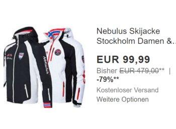 Nebulus: Atmungsaktive Skijacke für 99,99 Euro frei Haus