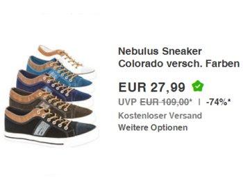 "Nebulus: Sneaker ""Colorado"" für 27,99 Euro frei Haus"