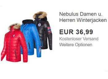 Nebulus: Atmungsaktive Winterjacken für 36,99 Euro frei Haus