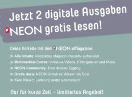 Gratis: Neon digital zweimal kostenlos lesen / endet automatisch