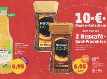 Penny: Zwei Nescafé Gold für 13,90 Euro mit 10 Euro Cashback
