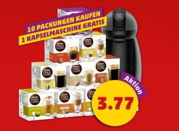 Penny: Nescafé Dolce Gusto Maschine gratis beim Kauf von 10 Kapselpackungen