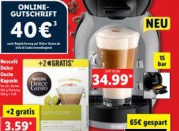 Lidl: De-Longhi-Kapselmaschine für 34,99 Euro mit Gutscheinen über 40 Euro