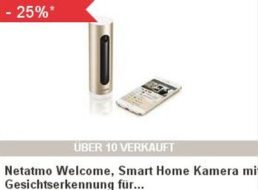 "Ebay: Smart-Home-Kamera ""Netatmo Welcome"" für 149,90 Euro frei Haus"