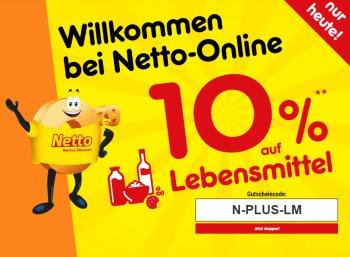 Netto: Zehn Prozent Rabatt auf Lebensmittel im Onlineshop bis Mitternacht