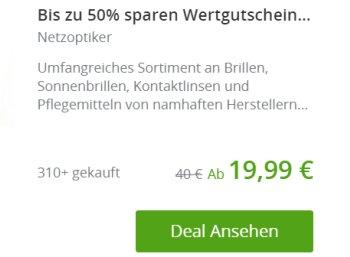 Groupon: 20 bis 40 Euro Rabatt auf alles bei Netzoptiker