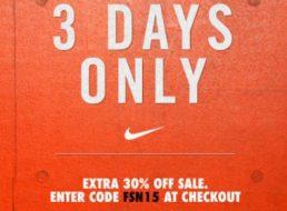 Nike: Sale mit 30 Prozent Rabatt auf reduzierte Artikel