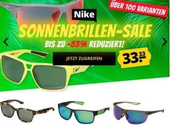 Nike: Sonnenbrillen für pauschal 3,33 Euro bei Sportspar