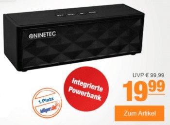 Plus: Bluetooth-Lautsprecher von Ninetec mit Powerbank für 19,99 Euro