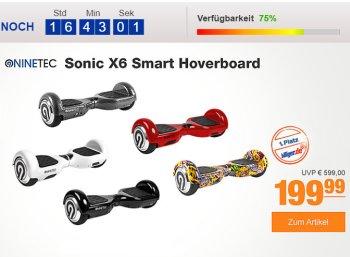 Plus: Ninetec Sonic Hoverboard für 179,99 Euro frei Haus