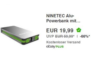 Ebay: Powerbank Ninetec NT609 für 19,99 Euro frei Haus