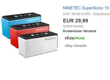 Ebay: Bluetooth-Lautsprecher Ninetec Supersonic mit Radio für 29,99 Euro