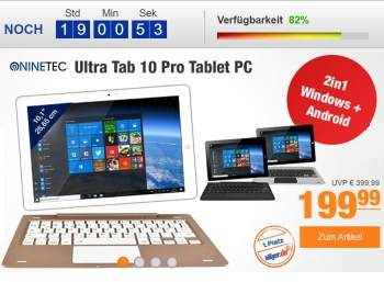 Plus: Ninetec Ultra Tab mit Windows und Android für 199,99 Euro
