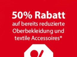 NKD: 50 Prozent Rabatt auf bereits reduzierte Oberteile und Accessoires