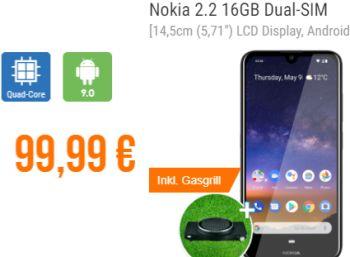 Bundle-Schnäppchen: Nokia 2.2 & Rösle Gasgrill für 99,99 Euro