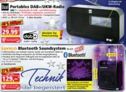 Norma: DAB/UKW-Radio Dual Portables zum Bestpreis von 29,99 Euro