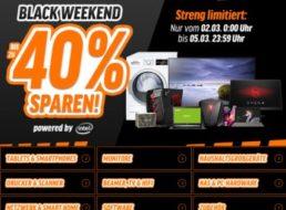 """Notebooksbilliger: """"Black Weekend"""" mit 15-40 Prozent Rabatt auf Markenprodukte"""