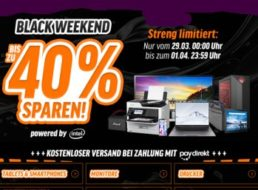 Notebooksbilliger.de: Black Weekend mit bis zu 40 Prozent Rabatt