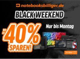 Black Friday: 25 bis 40 Prozent rabatt bei Notebooksbilliger bis Montag