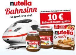 Nutella: Bahn-Coupon über zehn Euro in Aktionsgläsern ab Montag