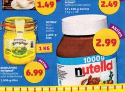 Penny: Nutella im Kiloglas für 2,99 Euro ab Montag
