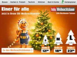 """OBI: 10 Prozent Rabatt beim Kauf eines """"Volks-Weihnachtsbaums"""""""