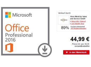 Allyouneed: Microsoft Office Professional 2016 für 44,99 Euro frei Haus