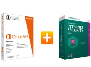 Ebay: Office 365 & Kaspersky Internet Security 2016 für 29,99 Euro